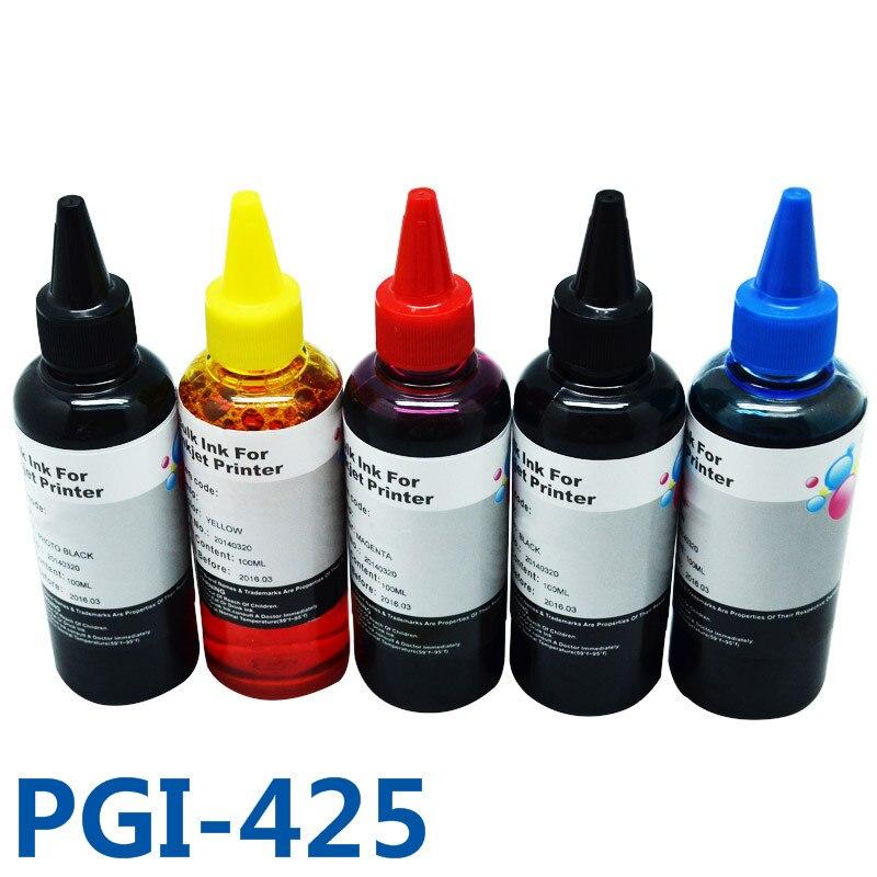 500ml PGI425 CLI-426 Dye Refill Ink Kit CISS Ink For Printer For Canon PIXMA MG5240/5140/6140/8140/IP4840/MX884/IX6540 pgi-425 empty ciss for canon pgi 650 bk cli 651 kcmyg ciss for canon pixma mg6360