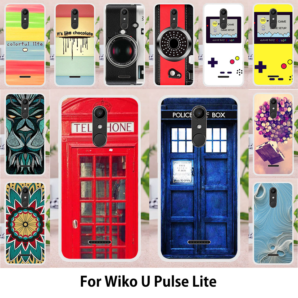TAOYUNXI Soft TPU Phone Cases For Wiko Upulse Lite U Pulse Lite 5 2 inch  Covers Sunflowers Bags Silicone Telephone Booth Shell