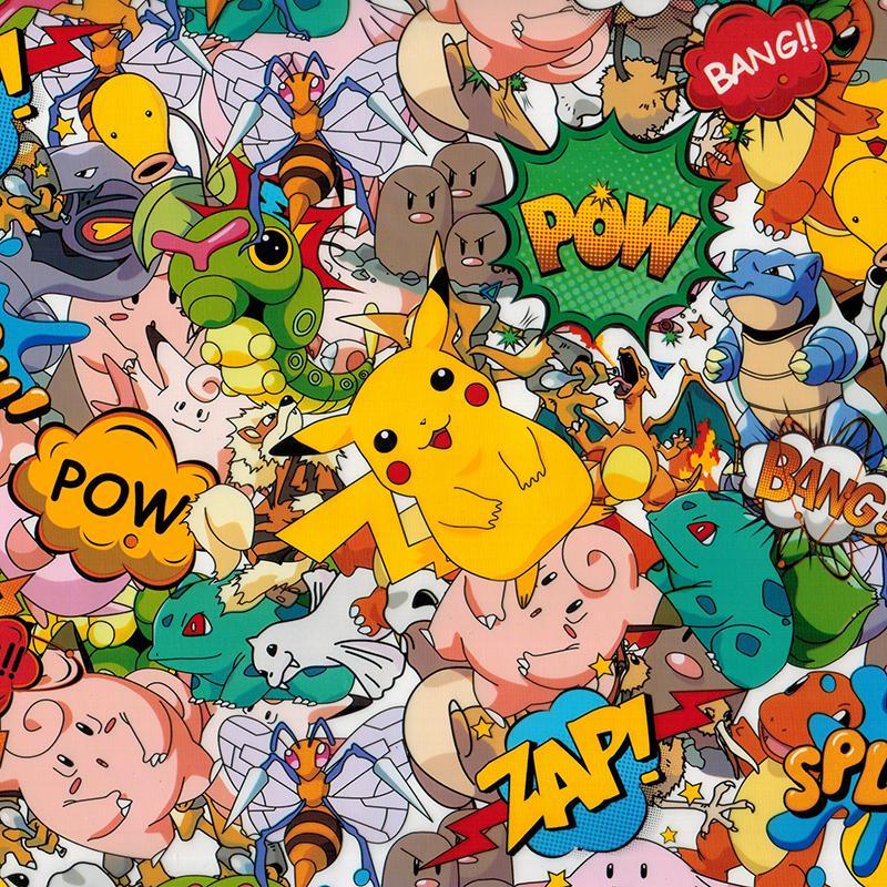 WDF9067 10M ұзындығы гидронды басып шығару пленкасы Ені 100 см гидро-графикалық фильм Pokemon