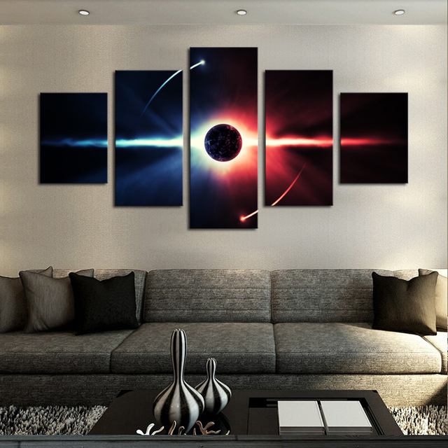 no frame large hd abstrac planet canvas print painting for living