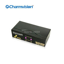 Charmvision VK201A 2 ports auto USB KVM Audio multi interface computer switcher VGA Audio simultaneously control USB Mic signals