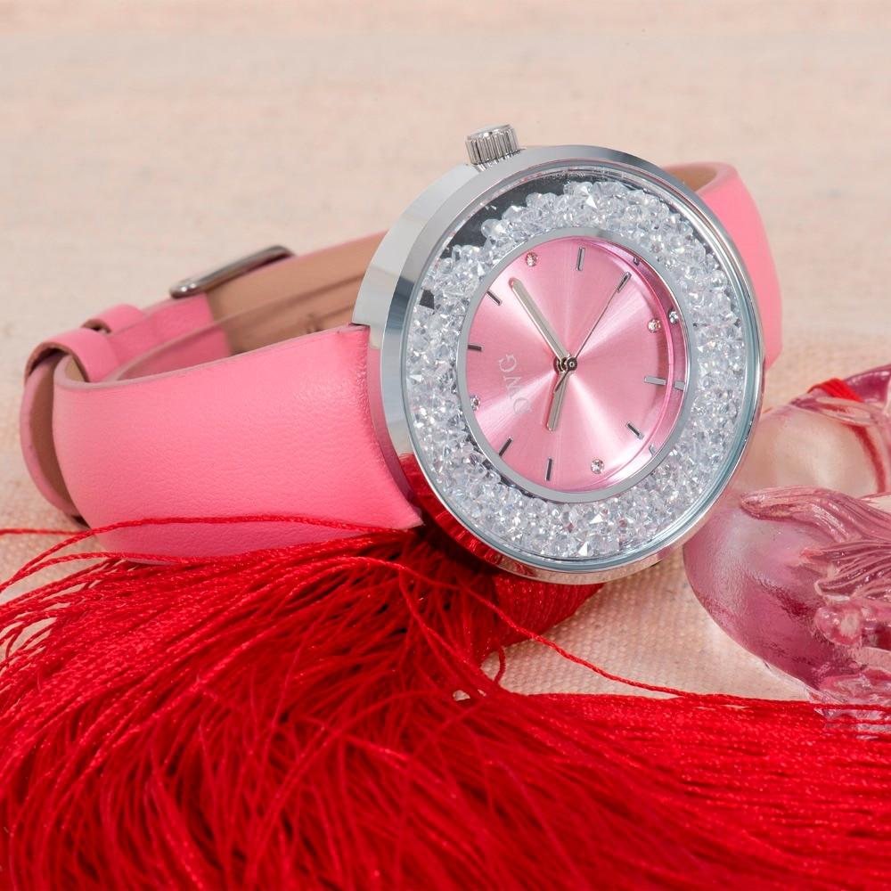 Dwg Marke Uhren Frauen Mode Luxus Uhr 4 Farben Lederband Armband