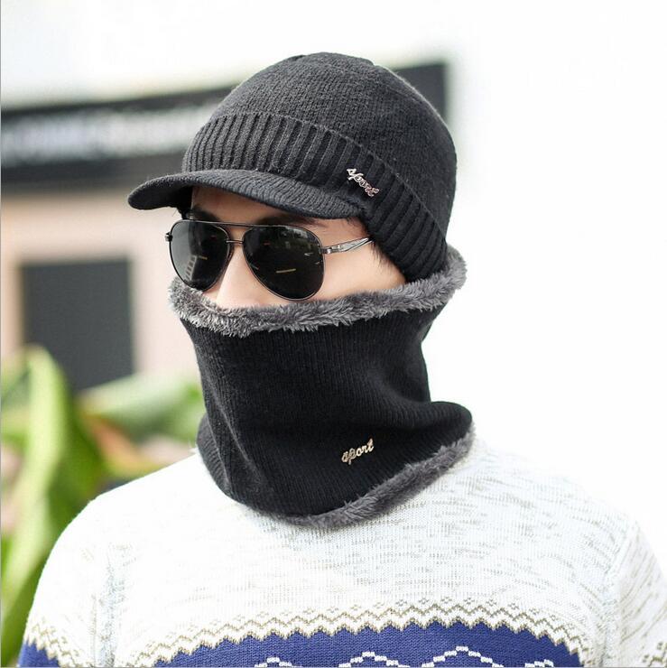 Brand OZyc Winter Wool Ski Hats Neck Warmer Beanies Knit Men's Hats Caps Skullies Bonnet For Men Women Balaclava Head Caps