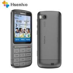 Оригинальный разблокированный телефон оригинального дизайна Nokia C3-01 2,4 дюйма камера 5 Мп 1050 мАч WIFI Bluetooth одноъядерный сотовый телефон Беспла...