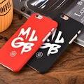 Moda design criativo carta mlgb caso da marca para o iphone 6 6 s mais 5 5S 5se Ultra fino Matte Plástico Rígido Tampa Traseira