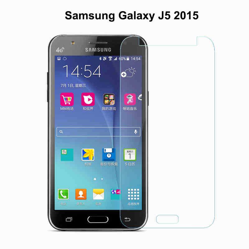 لسامسونج غالاكسي j5 شاشة حامي الزجاج المقسى لسامسونج غالاكسي j5 الزجاج J500F 2015 الهاتف السينمائي لسامسونج j5 J500H j5 [