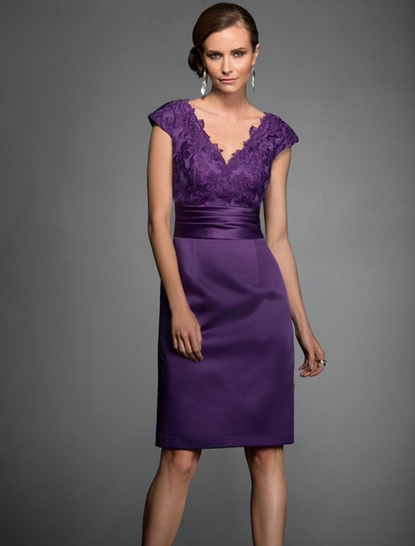 Y Dress For Purple Mother Of The Bride Dresses Knee Length Pant Suits Gowns Groom Brides Weddings In From