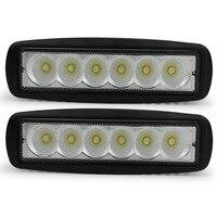 2pcs 6inch 6 X 3W 18W MINI LED Light Bar Offroad Truck Tractor LED Work Light