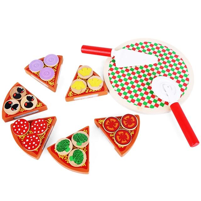 Baby Spielzeug rrial Kinder Spielzeug Pizza Essen Spiel Montessori ...