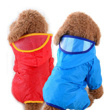 Pet Dog Raincoat With Hood Jumpsuit Pet Supplies Puppy Rain Coat Cat Coat Rainwear Supplies For Small Dogs Chihuahua Teddy(China)