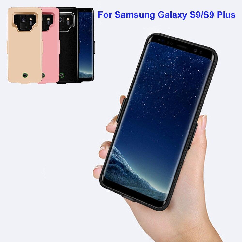 7000 mah Ha Esteso La Ricarica di Potenza Della Batteria Della Copertura di Caso per Samsung Galaxy S9 Più 6.2 inch Ricaricabile di Ricarica Veloce Design Del Paraurti