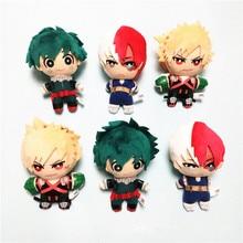 15CM My Hero Academia Midoriya Izuku bakugou katsuki Todoroki Shoto Plush Toy Stuffed Doll Figure Soft pillow Christmas gift