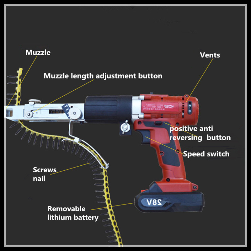 Automatic screw feeding multi-function electric screw gun   ...