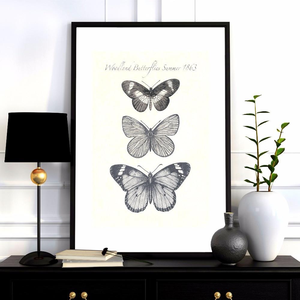 A pillangók növekedése Vászon művészeti nyomtatás Festmény - Lakberendezés - Fénykép 3