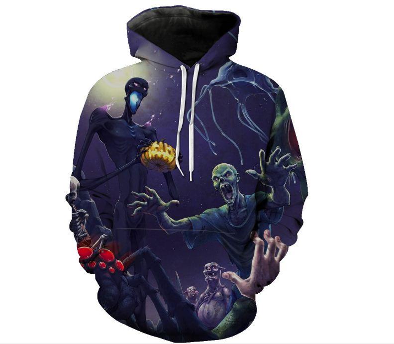 GAGA Men Unisex Lion 3D Print Casual Long Sleeve Hoodie Pullover Sweatshirts
