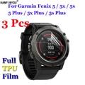 3 шт./лот, для Garmin Fenix 5 5x, Смарт-часы для занятий спортом с браслетом, мягкая Противоударная защитная пленка из ТПУ для экрана