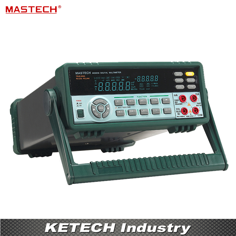 купить MASTECH MS8050 53000 Counts VFD Display Autoranging Bench Top Multimeter High Accuracy True RMS RS232C недорого
