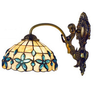 Modern Metal Base Shell Cover Tiffany Wall Lamp