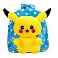 Crianças mochila Pokemon IR Mochila de Estudante Saco de Pelúcia Boneca de Brinquedo Macio Pikachu De Pelúcia Crianças Mochila Menino Menina jardim de infância BB0117