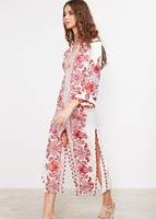 2017 ocasional de la muchacha de bohemia vestido bordado de manga larga diseñador étnicas borlas vestidos de fiesta bata vestido de fiesta vestidos