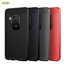 For Motorola moto p40 note Case Cover MOFI Fitted TPU Cases note/moto one pro Soft Back