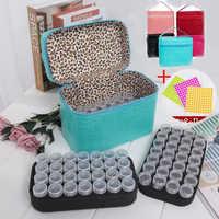 Accessoire de rangement en pierre 84 grilles boîtes de rangement présentoir diamant peinture point de croix résine strass perles conteneur