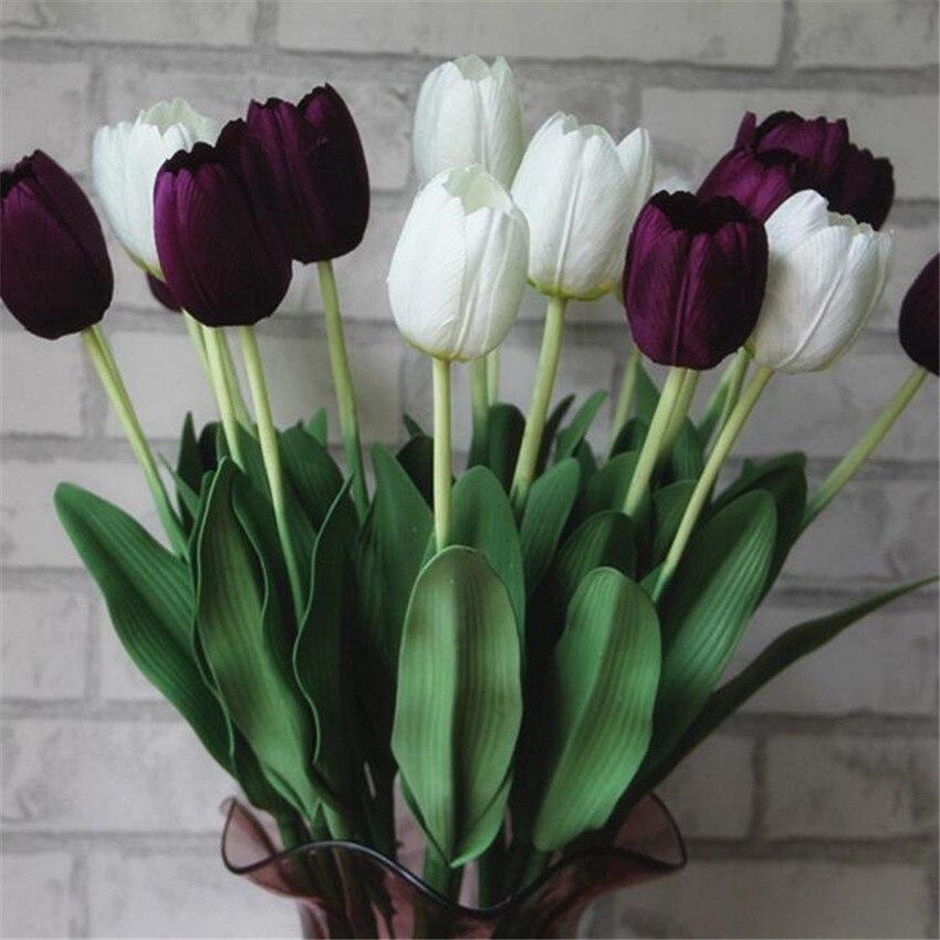 Красивые Высокое качество тюльпан искусственные цветы искусственные букет цветы украшение дома свадьба decorat