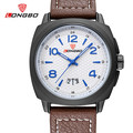Longbo fashion casual sports brand military quartz watch vintage waterproof luxury leather strap watches mens relogio masculino