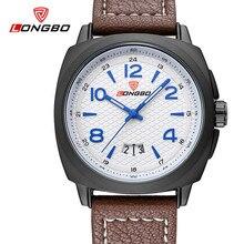 Longbo marca de moda esporte casual militar relógio de quartzo do vintage à prova d ' água pulseira de couro de luxo relógios mens relógio masculino