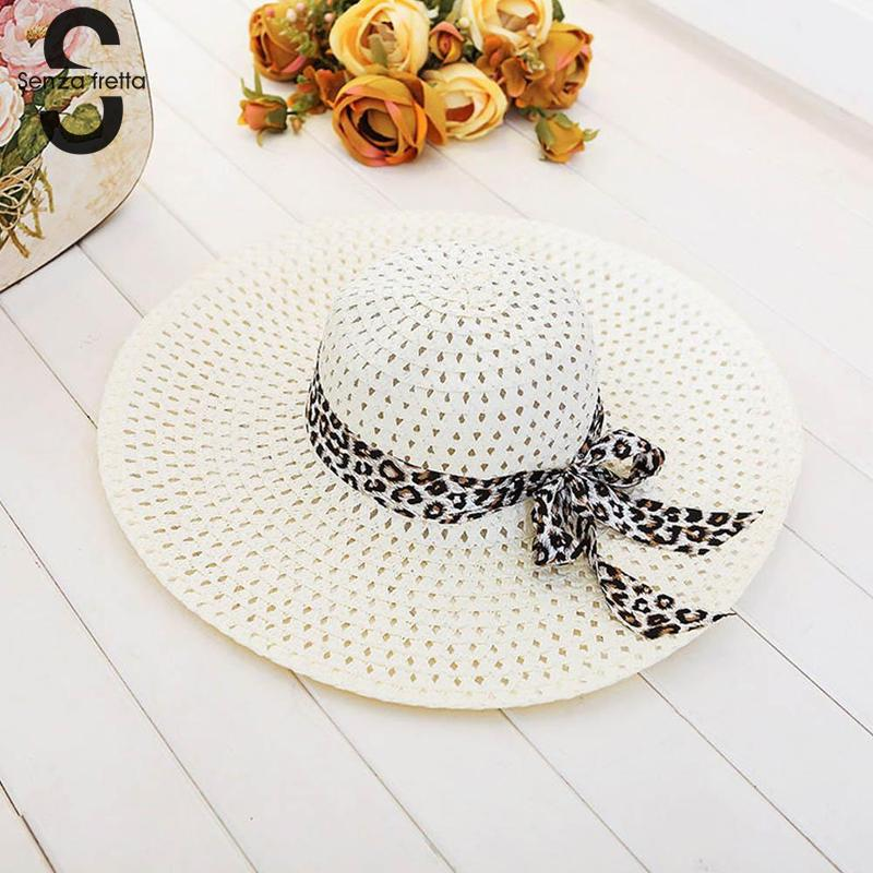 2018 New Women Summer Hat Wide Brim Straw Hat Summer Beach Hats Floppy Fold Straw Sun Hats For Women Girls Dropshipping wide brim straw hat
