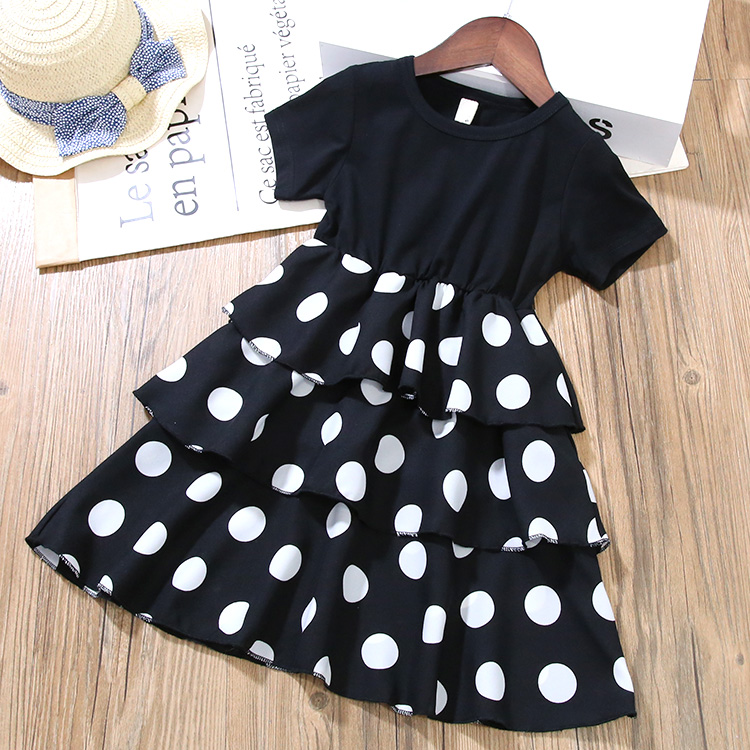 Girls Layered Dresses for Party and Wedding Kids Princess Dot Dress for Toddler Girl Clothes Summer Dot Layered Dress In Kids 2