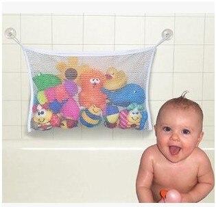 Rastgele Renk Çocuklar Bebek Banyo oyuncakları Depolama Net çanta Küvet Oyuncak Düzenli Depolama Vantuz Çanta Örgü Banyo Organizatör Net oyuncak çantası