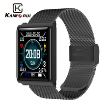 Kaimorui Smart Bracelet Heart Rate Tracker Bluetooth Smartband with Changeable Band Wristband for Androidn IOS