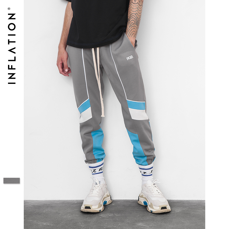INFLATION 2018 New Collection Autumn Jogger Sweatpants Patchwork Hip Hop Streetwear Casual Trousers For Men Women 8850W