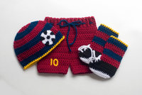 BABY BOY SOCCER Baby Soccer Beanie Shorts Football Crochet Soccer Photo Prop Soccer Baby Outfit