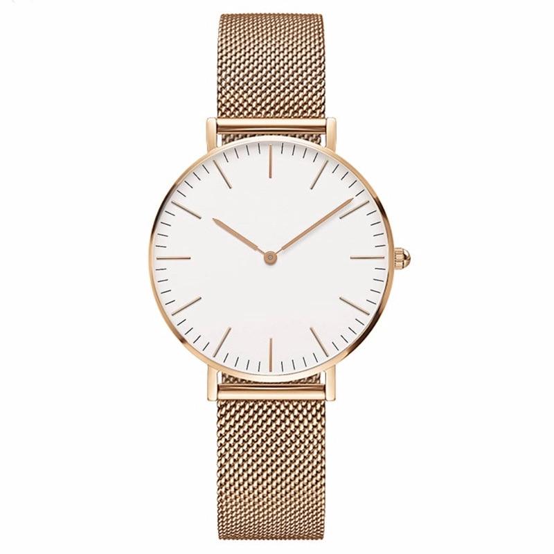 1a9fca5ae3c 2018 Novas Mulheres Da Moda Relógios Clássicos Homens Marca de Relógios  Casuais Nylon Estilo Feminino Vestido