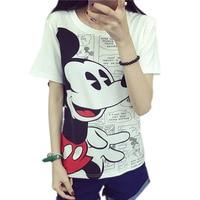 Mickey Tee Shirt Femme Tshirt Women T Shirt Mickey Woman Tops 2016 Cotton T Shirt Women