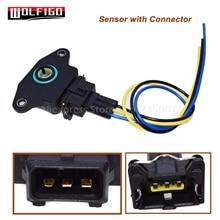 WOLFIGO 35170 22010 TPS Датчик положения дроссельной заслонки w/разъем провода подходит для hyundai Elantra Tiburon SAAB VOLVO 3517023000,1336385