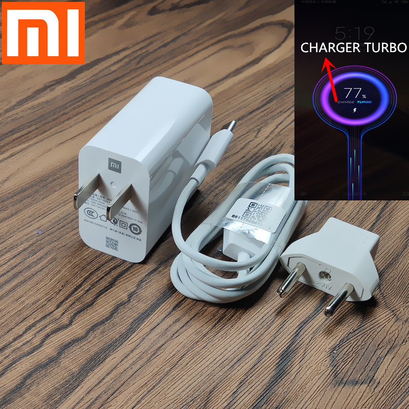 Xiaomi <font><b>charger</b></font> <font><b>mi</b></font> 9 Fast <font><b>charger</b></font> adapter QC4.0 <font><b>27W</b></font> USB Quick charge Turbo Type C charging cable For xiaomi mi9 se <font><b>mi</b></font> 8 6 note 7 image