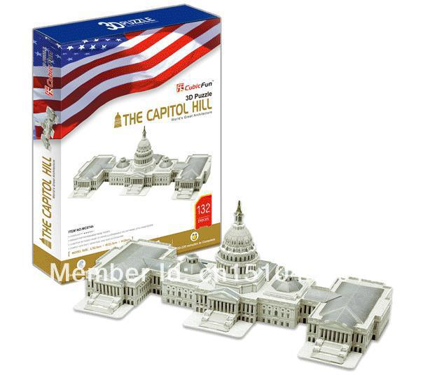 The Capitol Hill CubicFun 3D educational puzzle Paper & EPS Model Papercraft Home Adornment for christmas birthday gift wat phra kaew cubicfun 3d educational puzzle paper