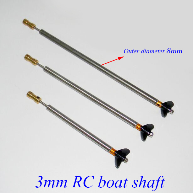 3mm RC Boat Shaft Set 100/150/200/250mm Motor Drive Shaft With Coupler Propeller Screw Drive Dog Spare Parts 3mm rc boat shaft set 100 150 200 250mm motor drive shaft with coupler propeller screw drive dog spare parts