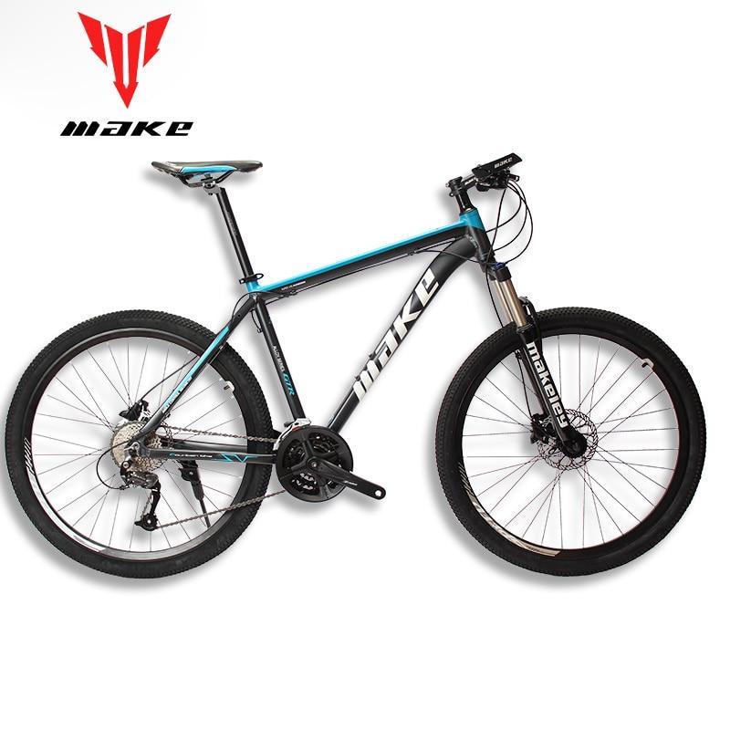 MAKE Mountain Bike Aluminum Frame SHIMAN0 AItus 27 Speed 26 27,5 Wheel Hydraulic/Mechanical Brake