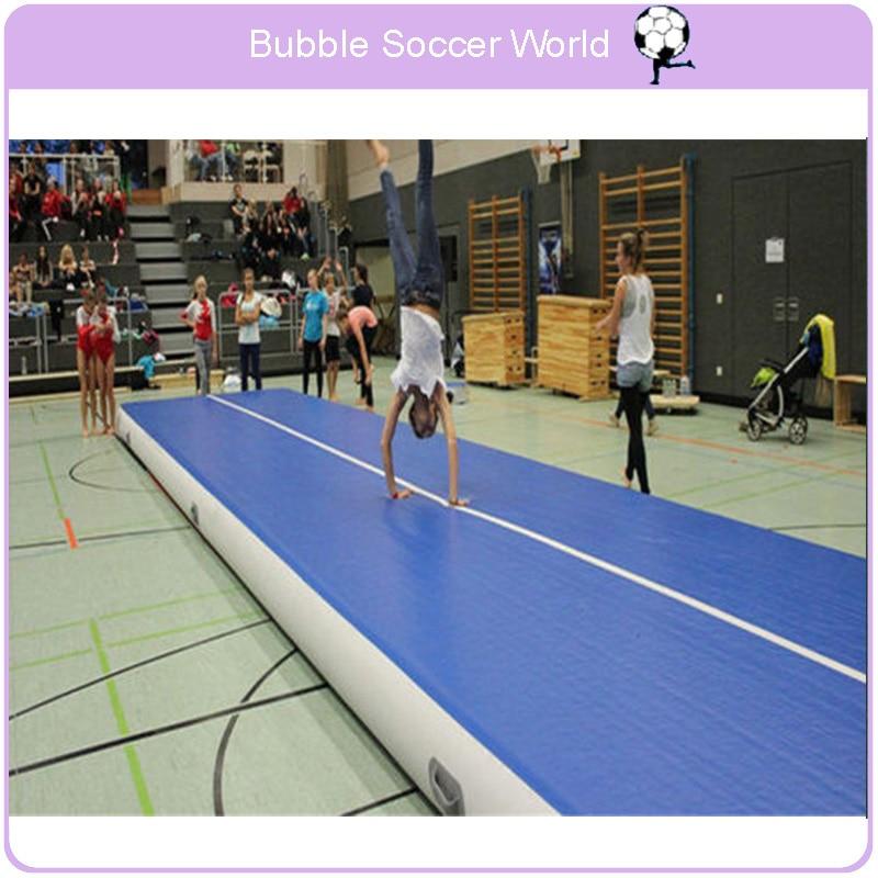 Inflatable Gymnastics Tumbling Air Track Floor Bouncer For Kids Home Use Yoga Training Beach Electric Air Pump Tumbling 7x1x0.2m