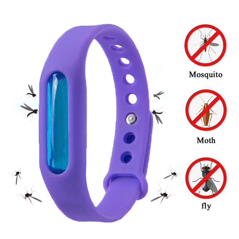 5pcs Environmental Protection Silicone Wristband Summer Mosquito Repellent Bracelet Anti mosquito Band safe for child x-in Repellents from Home & Garden