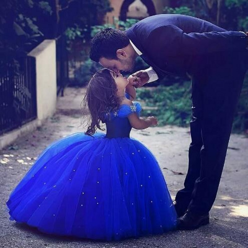 Robes de première Communion bleu Royal pour fille robes de demoiselle d'honneur robe de demoiselle d'honneur pour les mariages