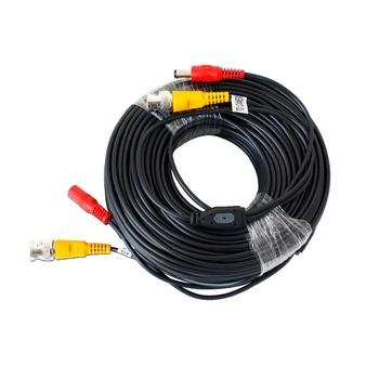 DEFEWAY 18M przewód CCTV BNC wtyczka DC kabel do kamera telewizji przemysłowej i rejestratory 65 Ft kolor czarny kabel koncentryczny nadzór akcesoria tanie i dobre opinie CN (pochodzenie) Brak BNC Cable 18 3M Kable