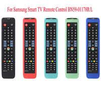 23.3*5.4cm caso de controle remoto de silicone de proteção para samsung smart tv controle remoto BN59-01178R/l capa caso de controle remoto