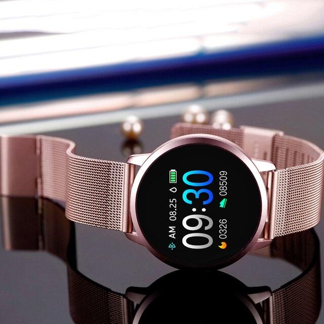 Newwear Q8 Q9 inteligentny zegarek moda elektronika mężczyźni kobiety wodoodporny Sport Tracker bransoletka fitness Smartwatch urządzenie do noszenia na ciele