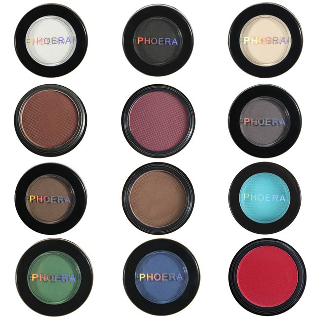 12 Colors Matte Eye Shadow Powder Pigment Nude Long Lasting Bright Eyeshadow Makeup Water-Resistant Black Red Eyeshadow 1