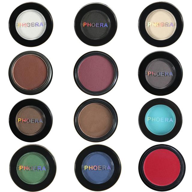 12 Colors Matte Eye Shadow Powder Pigment Nude Long Lasting Bright Eyeshadow Makeup Water-Resistant Black Red Eyeshadow